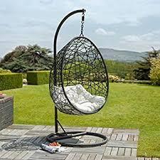 siege suspendu jardin la havane egg fauteuil suspendu en rotin amazon fr jardin