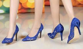 wedding shoes low heel pumps royal blue 7cm heels lace wedding shoes bridals pumps evening