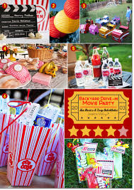 backyard movie night birthday party ideas home outdoor decoration