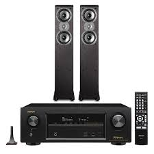 denon home theater receiver denon avr x1300w 7 2 channel receiver with polk tsi300 tower
