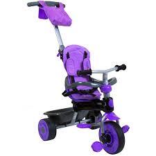 bentley purple bentley kids deluxe 3 in 1 pedal trike purple red green and blue