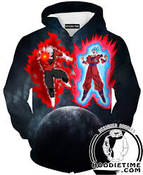 dragon ball z shirts jiren vs super saiyan blue kaio ken goku t