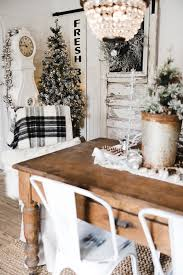 Christmas Dining Room Decorations - rustic glam farmhouse christmas dining room liz marie blog