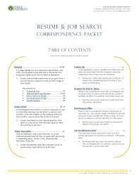 Resume Job Search by Resume U0026 Job Search Correspondence Packet