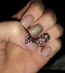 fall nails champagne mauve leopard metallic glitter sparkle
