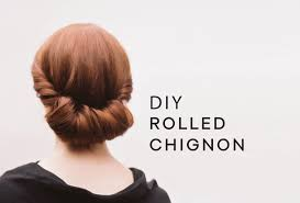 Elegant Chignon Hairstyle by Diy Rolled Chignon Hair Tutorial Wedding Hairstyles From Once