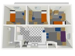 three room apartment floor plans office of residence life university of wisconsin