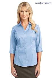light blue button down shirt women s port authority womens blend button down shirt bigtopshirtshop com