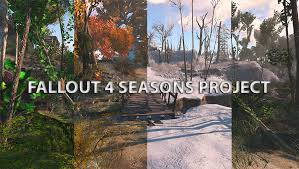 fallout 4 seasons grass trees plants snow at fallout 4