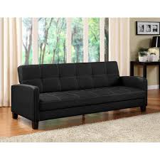 Black Sleeper Sofa Dhp Convertible Sofa Futon Rich Black Microfiber Bed