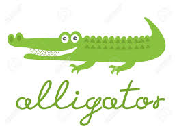 illustration of cute alligator character royalty free cliparts
