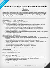 Office Skills Resume Examples by Administrative Assistant Resume Example Write Yours Today