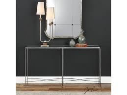 Silver Console Table Uttermost Living Room Aubrey Silver Console Table