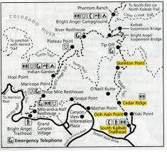 Grand Canyon Arizona Map by Day Hikes Of Grand Canyon South Rim Trails A Journey With Hikingoc