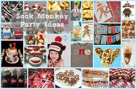 Sock Monkey Baby Bedding Sock Monkey First Birthday Invitation Design Ideas