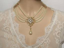choker style pearl necklace images Glam confidential glam guide to wearing pearls to a wedding jpg