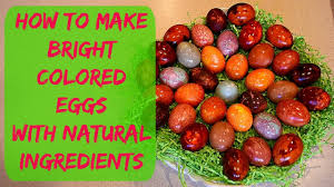 coloring eggs with natural dyes how to color easter eggs youtube