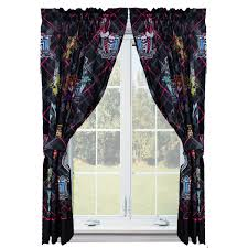 monster high girls bedroom curtain panels set of 2 walmart com
