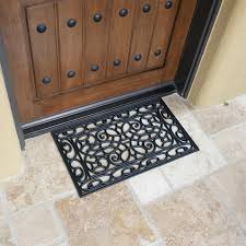 Wrought Iron Rubber Doormat Orion