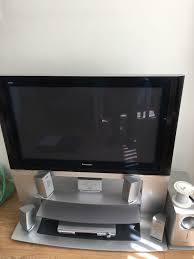 home theater panasonic panasonic viera th 42pv500b 42 u0027 u0027 plasma tv with stand and