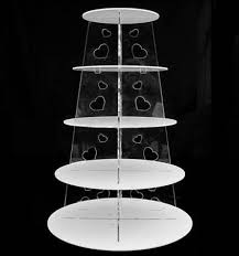 5 tier cake stand 5 tier white circle heart acrylic cupcake party wedding cake stand