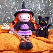 amigurumi witch pattern morgana soots witch and cat amigurumi dolls crochet pattern