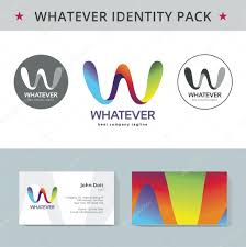abstract letter w identity pack vector concept logo vizit cards