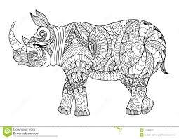 zentangle stylized wolf stock vector image 70823418