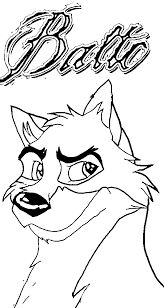 balto wolf coloring pages wecoloringpage