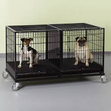 Dog Crate Covers Uptown Patio Modular Dog Kennels With Cover Urban Farmhouse