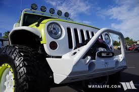 blue green jeep 2017 sema jive jeep lime green jeep jk wrangler unlimited