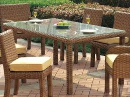 wicker dining table with glass top rattan dining room table outstanding rattan dining room table and