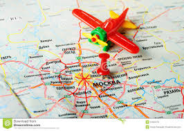 Moscow Map Moscow Russia Map Airplane Stock Photo Image 51552276