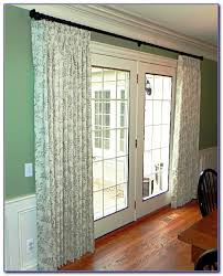 Patio Door Curtain Rod Patio Door Curtain Rod Without Center Support Patios Home