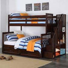 twin over full bunk bed with stairs wooden building twin over