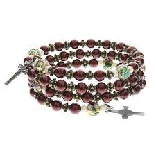 rosary bracelets catholic rosary bracelet in rubber bracelets