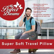 amazon com premium travel pillow grey sleep with no neck pain