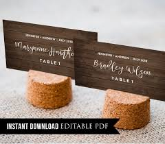 place cards diy wedding place card template rustic wood seating cards name cards
