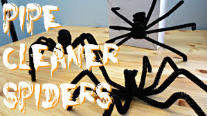 using pipe cleaners to make spiders for halloween youtube