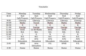 class teachers u2013 making your timetable u2013 irish primary teacher