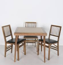 Stakmore Folding Chairs by Vintage Folding Card Table With Three Chairs By Stakmore Co Ebth