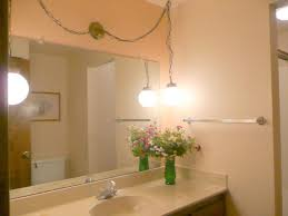 Corner Mirror For Bathroom by Bathroom Lighting Ideas Double Vanity White Pendants Wall Mounted