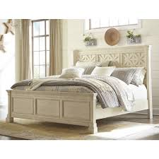 Ashelys Furniture Ashley Furniture Bolanburg Queen Panel Bed In White Local