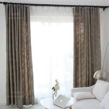 gray print polyester insulated modern room darkening curtains