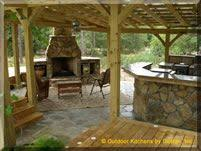 back deck with outdoor kitchen home design and landscape