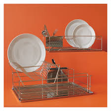 Dish Drainer Decker Stainless Steel Double Level Dish Drainer Buy Now At