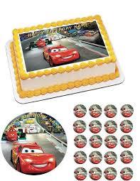 where to print edible images cars 1 edible cake and cupcake topper edible prints on cake epoc