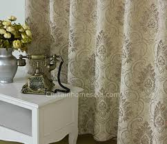 Insulated Patio Curtains Patio Door Curtains Of Jacquard Crafts In Beige Color