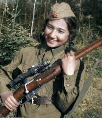 colourised photos show russia u0027s female snipers of ww2 daily mail