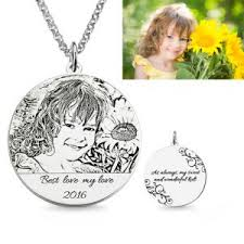 Photo Engraved Necklace The Engravable Sterling Silver Heart Photo Necklace Memorial Gift
